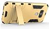 Eiroo Iron Armor LG G6 Standlı Ultra Koruma Dark Silver Kılıf - Resim 4