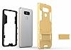 Eiroo Iron Armor LG G6 Standlı Ultra Koruma Lacivert Kılıf - Resim 5