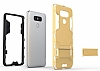 Eiroo Iron Armor LG G6 Standlı Ultra Koruma Dark Silver Kılıf - Resim 5