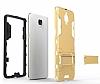 Eiroo Iron Armor OnePlus 3 Standlı Ultra Koruma Dark Silver Kılıf - Resim 6