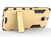 Eiroo Iron Armor OnePlus 3 Standlı Ultra Koruma Dark Silver Kılıf - Resim 3