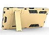 Eiroo Iron Armor Sony Xperia XZ Standlı Ultra Koruma Dark Silver Kılıf - Resim 2