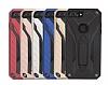 Eiroo Iron Care iPhone 7 Plus Standlı Ultra Koruma Gold Kılıf - Resim 1