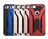 Eiroo Iron Care iPhone 7 Standlı Ultra Koruma Lacivert Kılıf - Resim 1
