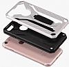 Eiroo Iron Care Huawei P20 Lite Standlı Ultra Koruma Gold Kılıf - Resim 2