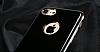 Eiroo Jet Fit iPhone 6 Plus / 6S Plus Dark Silver Jet Black Siyah Silikon Kılıf - Resim 4