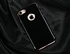 Eiroo Jet Fit iPhone 6 Plus / 6S Plus Dark Silver Jet Black Siyah Silikon Kılıf - Resim 3