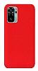 Eiroo Lansman Xiaomi Redmi Note 10S Kırmızı Silikon Kılıf
