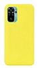 Eiroo Lansman Xiaomi Redmi Note 10S Sarı Silikon Kılıf