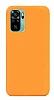 Eiroo Lansman Xiaomi Redmi Note 10S Turuncu Silikon Kılıf