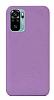 Eiroo Lansman Xiaomi Redmi Note 10S Mor Silikon Kılıf