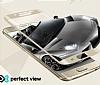 Eiroo Lenovo K6 Note Curve Tempered Glass Beyaz Full Cam Ekran Koruyucu - Resim 4