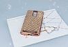 Eiroo Lenovo Vibe K5 Note Taşlı Rose Gold Silikon Kılıf - Resim 1