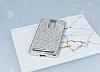 Eiroo Lenovo Vibe K5 Note Taşlı Silver Silikon Kılıf - Resim 1