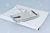 Eiroo Lenovo Vibe K5 Note Taşlı Silver Silikon Kılıf - Resim 2