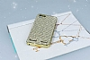 Eiroo Lenovo Vibe K5 Taşlı Gold Silikon Kılıf - Resim 1