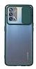 Eiroo Lens Series Oppo A74 Yeşil Silikon Kılıf