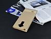 LG G4 Stylus Gizli Mıknatıslı Pencereli Gold Deri Kılıf - Resim 2