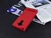 LG G4 Stylus Gizli Mıknatıslı Pencereli Kırmızı Deri Kılıf - Resim 2