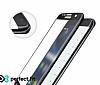 Eiroo LG K10 2017 Curve Tempered Glass Full Beyaz Cam Ekran Koruyucu - Resim 1