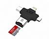 Eiroo Lightning, Micro USB ve USB Type-C OTG Kart Okuyucu
