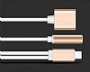 Eiroo Lightning Konuşma Özellikli Şarj ve Jack Kulaklık Girişi Çoğaltıcı Rose Gold Adaptör - Resim 8