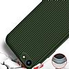 Eiroo Line iPhone SE 2020 Sarı Silikon Kılıf - Resim 2
