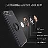 Eiroo Liquid Ring iPhone SE 2020 Standlı Silikon Siyah-Rose Gold Silikon Kılıf - Resim 2