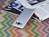Eiroo Lucatelli Samsung Galaxy E7 Ultra İnce Silver Rubber Kılıf - Resim 2