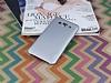 Eiroo Lucatelli Samsung Galaxy E7 Ultra İnce Silver Rubber Kılıf - Resim 1