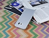 Eiroo Lucatelli Samsung Galaxy S6 Edge Ultra İnce Silver Rubber Kılıf - Resim 1