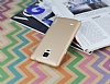 Eiroo Lucatelli Samsung N9100 Galaxy Note 4 Ultra İnce Gold Rubber Kılıf - Resim 2