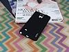 Eiroo Lucatelli Samsung N9100 Galaxy Note 4 Ultra İnce Siyah Rubber Kılıf - Resim 1