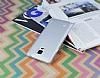 Eiroo Lucatelli Samsung N9100 Galaxy Note 4 Ultra İnce Silver Rubber Kılıf - Resim 2