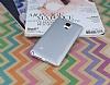 Eiroo Lucatelli Samsung N9100 Galaxy Note 4 Ultra İnce Silver Rubber Kılıf - Resim 1