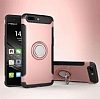 Eiroo Mage Fit Huawei Mate 9 Pro Standlı Ultra Koruma Rose Gold Kılıf - Resim 5