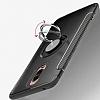 Eiroo Mage Fit Huawei Mate 9 Pro Standlı Ultra Koruma Siyah Kılıf - Resim 3