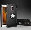 Eiroo Mage Fit Huawei Mate 9 Pro Standlı Ultra Koruma Siyah Kılıf - Resim 6