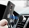 Eiroo Mage Fit Huawei Mate 9 Pro Standlı Ultra Koruma Siyah Kılıf - Resim 1