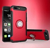 Eiroo Mage Fit Huawei Mate 9 Pro Standlı Ultra Koruma Kırmızı Kılıf - Resim 7