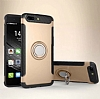 Eiroo Mage Fit Huawei Mate 9 Pro Standlı Ultra Koruma Gold Kılıf - Resim 7