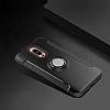 Eiroo Mage Fit Huawei Mate 9 Pro Standlı Ultra Koruma Siyah Kılıf - Resim 4