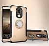 Eiroo Mage Fit Huawei Mate 9 Standlı Ultra Koruma Gold Kılıf - Resim 7