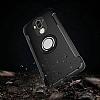 Eiroo Mage Fit Huawei Mate 9 Standlı Ultra Koruma Silver Kılıf - Resim 5