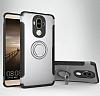 Eiroo Mage Fit Huawei Mate 9 Standlı Ultra Koruma Silver Kılıf - Resim 8
