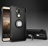 Eiroo Mage Fit Huawei Mate 9 Standlı Ultra Koruma Silver Kılıf - Resim 7