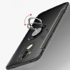 Eiroo Mage Fit Huawei Mate 9 Standlı Ultra Koruma Silver Kılıf - Resim 1