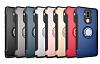 Eiroo Mage Fit Huawei Mate 9 Standlı Ultra Koruma Silver Kılıf - Resim 3
