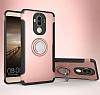 Eiroo Mage Fit Huawei Mate 9 Standlı Ultra Koruma Rose Gold Kılıf - Resim 9