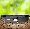 Eiroo Mage Fit Huawei P10 Lite Standlı Ultra Koruma Siyah Kılıf - Resim 1